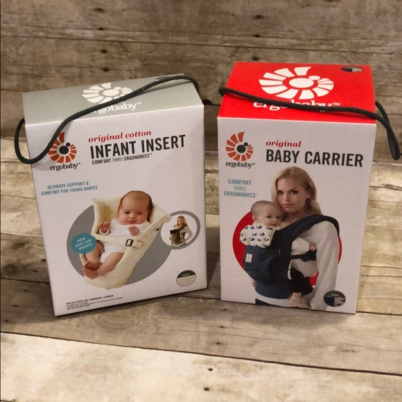 NIB Ergobaby Original Baby Carrier & Infant Insert